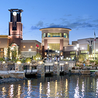 Jordan Creek Town Center in West Des Moines at night
